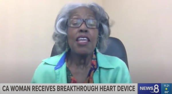 ca woman receives breakthrough heart device